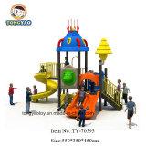 Matériel préscolaire extérieur de cour de jeu d'aventure de glissière en plastique pour les enfants (TY-70593)