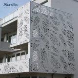 Exterior de pared de cortina de aluminio Panel perforado