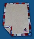MikroMink Baby Blanket mit Border Drucken Embroidery Technic (HR01BB003)