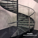 Indoor를 위한 조정가능한 Steel Glass Spiral Stairs/Staircase