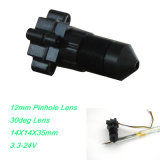 Vista de texto 12mm Lente 30deg VOA Color Mini CMOS CCTV Camera Module com 3.7-24V Wide Voltage