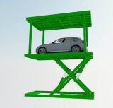 二重デッキ車の上昇を駐車するガレージ