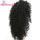 Pelucas llenas superiores de seda 100% del pelo humano del cordón del enrollamiento rizado brasileño del pelo humano de Remy