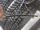 Bto-10, 15, 22, tipo cruzado, alambre de púas acordeón galvanizado sumergido caliente de la cinta de la maquinilla de afeitar
