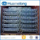 Gaiola de aço Foldable do armazenamento do armazém dobrável