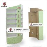 Étalage de position d'étage de carton, étalage de papier de crémaillère d'étalage de carton de produits de soins de la peau