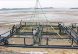 L'eau profonde de l'ouverture de l'Aquaculture Cage de filet de poisson