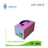 Горячий тип! солнечная электрическая система 10W для домашней пользы (батареи лития/свинцовокислотной батареи)