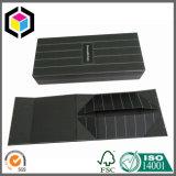 Silver Foil Logo Caixa de papel de presente de madeira preta de madeira