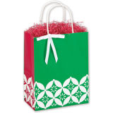 서류상 선물에서 작은 까만 & 은 소용돌이 종이 구매자는 납품업자를 자루에 넣는다