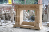 Camino di marmo crema Sy-303 dell'Egitto intagliato mano