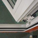 Weiße Farben-Puder-überzogene ungleiche Aluminiumblatt-doppelte Flügelfenster-Tür, Aluminiumtür, Tür K06021