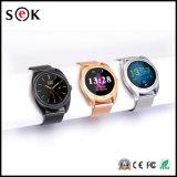 Bluetoothのセリウムの証明のスマートな腕時計のタッチ画面との専門のスマートな腕時計K89人間の特徴をもつ二重SIM Smartwatch