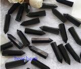 宝石類の部分自然で黒いオニックスの鉛筆のビード