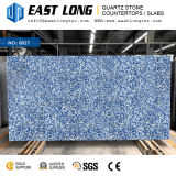 カスタマイズされた青い大理石カラーAartificialの水晶石の平板