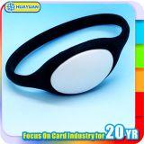 Wristband astuto del silicone RFID di HF 13.56MHz NTAG213 di HUAYUAN per ginnastica