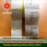 Étiquette adhésive Rolls (TPL-001) thermosensible de papier