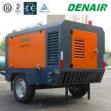 Móvil remolcable chorreo Dustless Tornillo Diesel compresor de aire para limpieza de granito