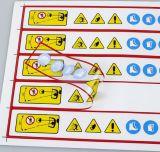 Escrituras de la etiqueta amonestadoras de la etiqueta engomada de la impresión de encargo