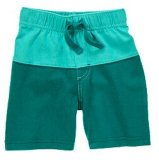 Kid's Colorblocked Shorts Jungle vert pur
