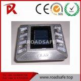 Goujons solaires de clignotement de route de borne en aluminium de route du plastique DEL de qualité