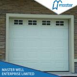 Белый цвет RAL 9016 стальные двери гаража с механизмом