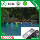 Cinco colores IP68 Solar LED de ladrillo Piscina Luz
