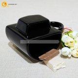 Titular de la Cookie de Taza de cerámica negra, la taza con galleta Pocket