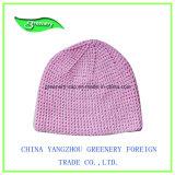 Chapeau rouge promotionnel de Knit de Beanie de l'hiver de broderie