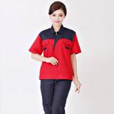 Uniforme uniforme del lavoro del pulitore dei vestiti da lavoro del breve manicotto dell'OEM