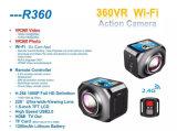 Câmera panorâmico do panorama da câmera de WiFi da câmera da ação mini um esporte de 360 graus que conduz a câmera de Vr