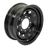 [17إكس9] (8-165.1) أسود تضمينيّة فولاذ عجلة