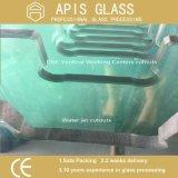 6-12 mm plataforma de baño templado / bordes / vidrio de seguridad pulido Toughened