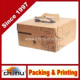 Caixa de papel ondulada de empacotamento do presente (120001)