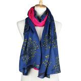 Fashion Viscose Cotton Polyester女性は編んだ絹によって印刷されたスカーフ(YKY1023)を