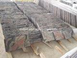Pavimento non tappezzato multi delle mattonelle fare un passo di marmo rosso della scala che pavimenta mattonelle