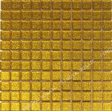 Mosaicos de vidro cristal, Mosaico de vidro ouro em pó, pó de ouro Mosaico Mosaico de vidro
