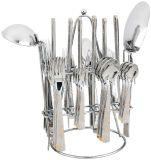 Miroir polissant le jeu de couverts de vaisselle de l'acier inoxydable 4PCS