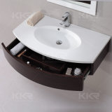 Weißes Badezimmer-Eitelkeits-Möbel-Schrank-Gerät, Bassin-Wanne