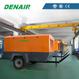 Mobile Industrial Portable Screw Standard Air Compressor 125 Cfm