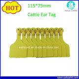 Tamanho grande 115*75mm vaca gado marca auricular com amostras grátis