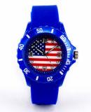 승진 실리콘 물자 시계 (DC-183)를 위한 깃발 세계 컵 시계