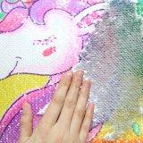 Unicórnio Reversível Mágico Lantejoulas amortecer 40*40cm banda decorativa Mermaid almofadas para sofá Decoração envio pendente
