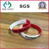 Braccialetti su ordine del silicone/silicone di promozione per stampato (KSD-825)