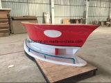 Rote Farben-Boots-Form-Empfang-Schreibtisch für Büro
