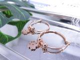 Полые-вне серьги с ювелирными изделиями способа серьги плакировкой золота Rose уха клевера привесными