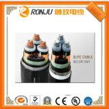 Алюминий/медного провода ПВХ изоляцией стальная лента ПВХ бронированные пламенно негорючий кабель питания