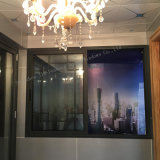 Bajo precio barato de la ventana corrediza de aluminio de metal para edificio comercial