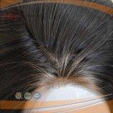 가득 차있는 진한 색 Remy 머리 레이스 정면 가발 (PPG-l-01723)