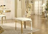 Eleganz-stapelbarer Rosen-Goldmetallrückseiten-Edelstahl, der Stuhl für Hochzeits-Bankett speist